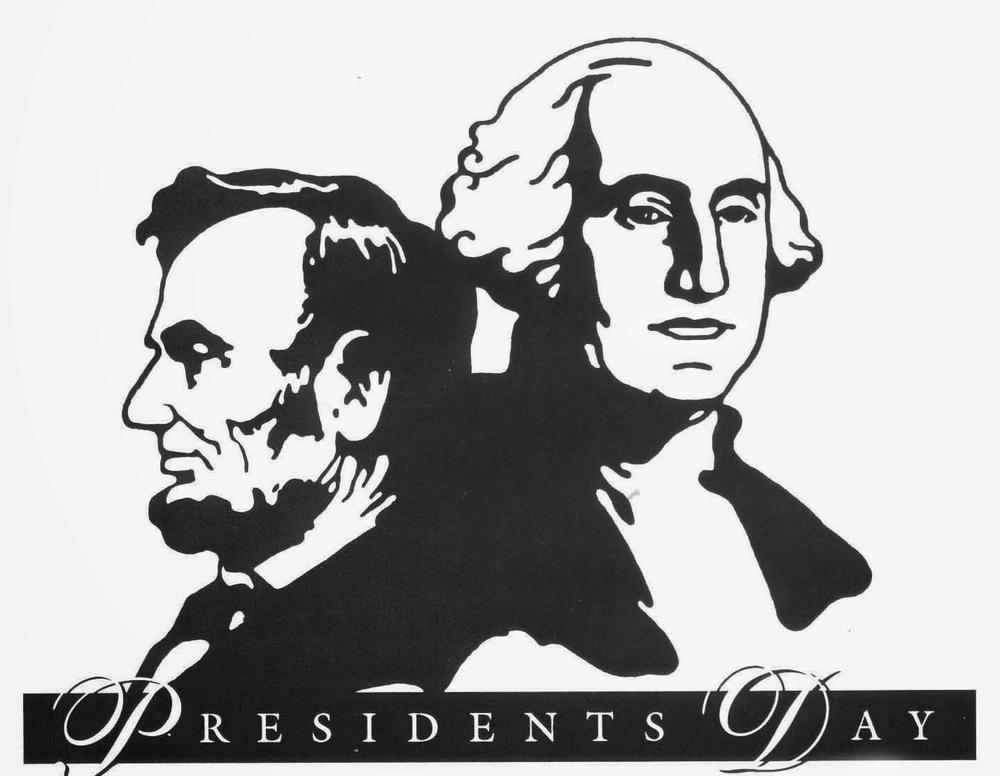 Photo of Presidents Lincoln and Washington with title  President s Day