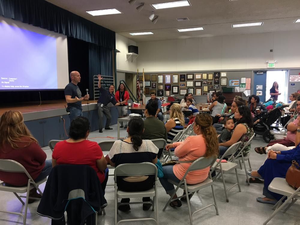 Parents at ELAC meeting