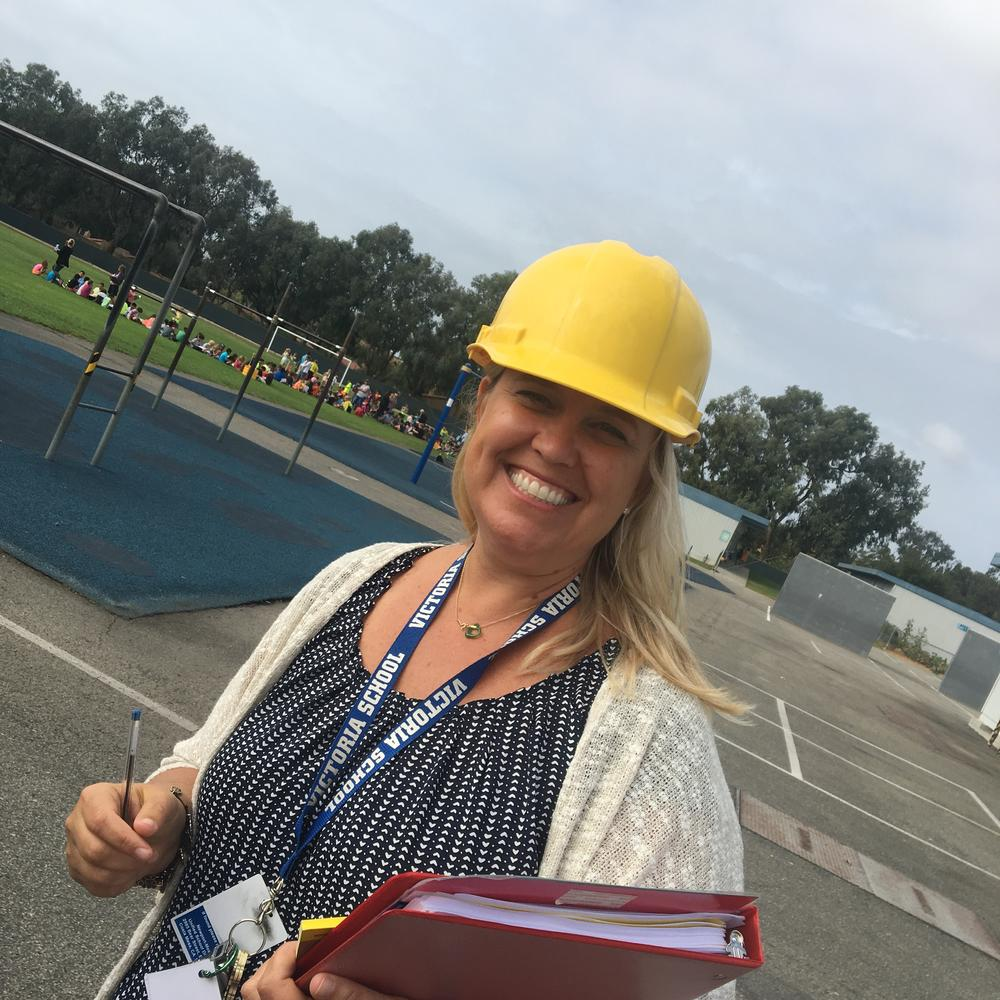 Erin Gordon in a safety hat